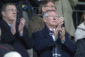 Sir Alex Ferguson at McDiarmid Park.