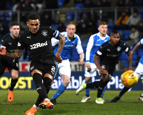 James Tavernier opens the scoring from the spot.