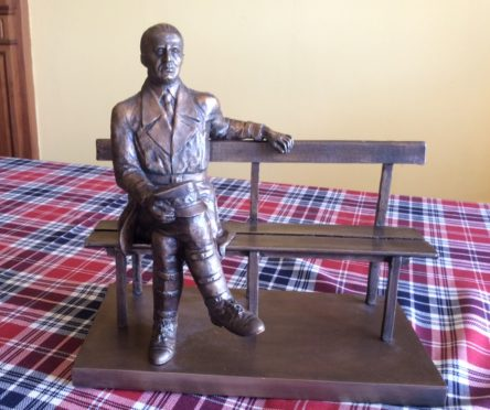 The maquette of the proposed Maczek statue