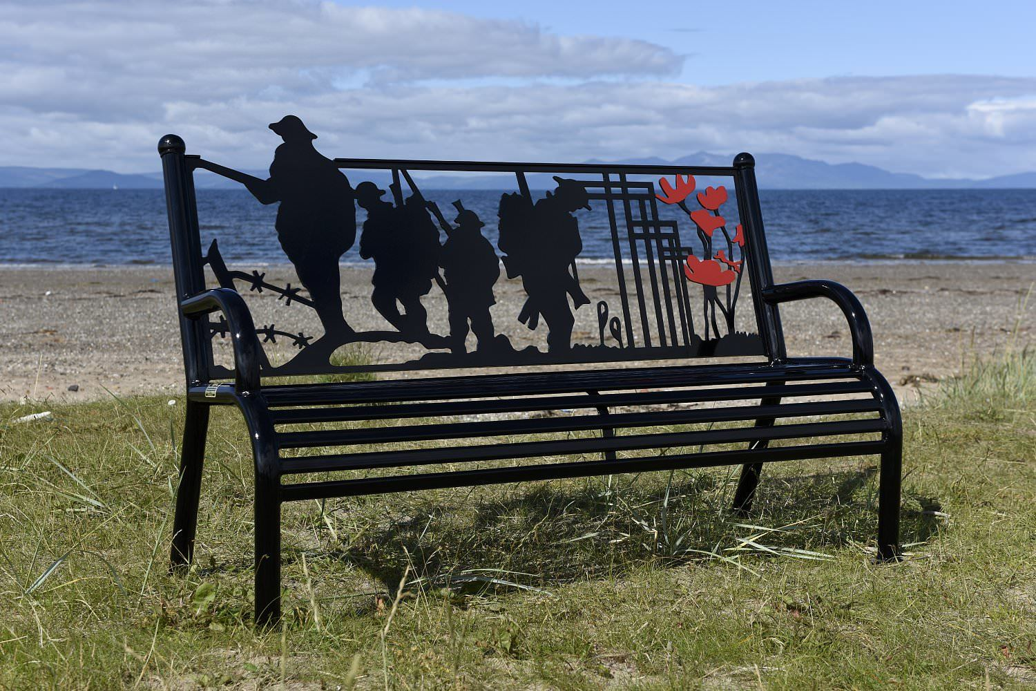 An example of the benches that will form part of Aberfeldy's new memorial garden.