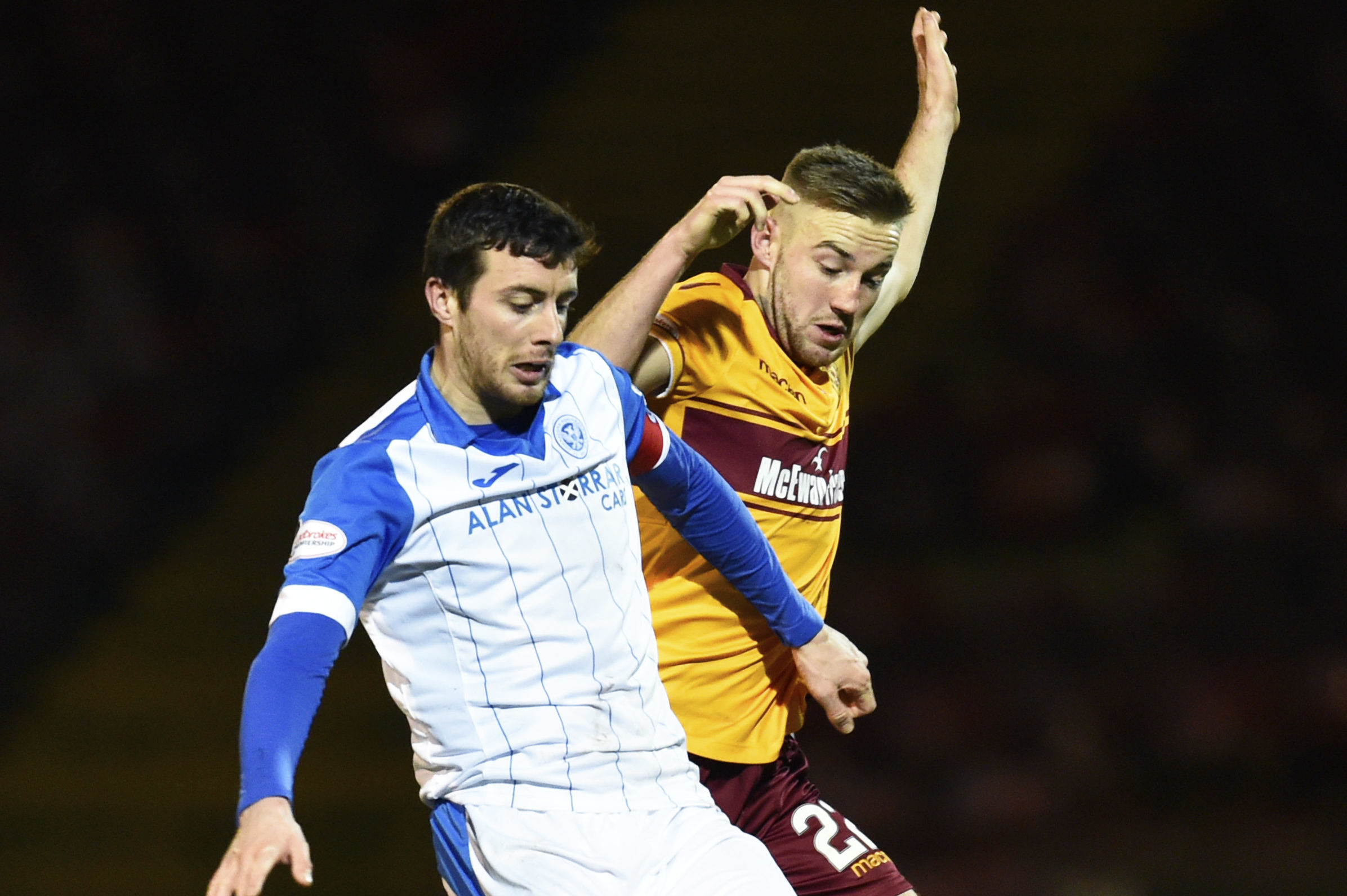 Joe Shaughnessy in action at Motherwell.