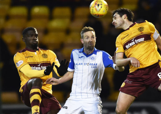 Steven MacLean in action at Motherwell.