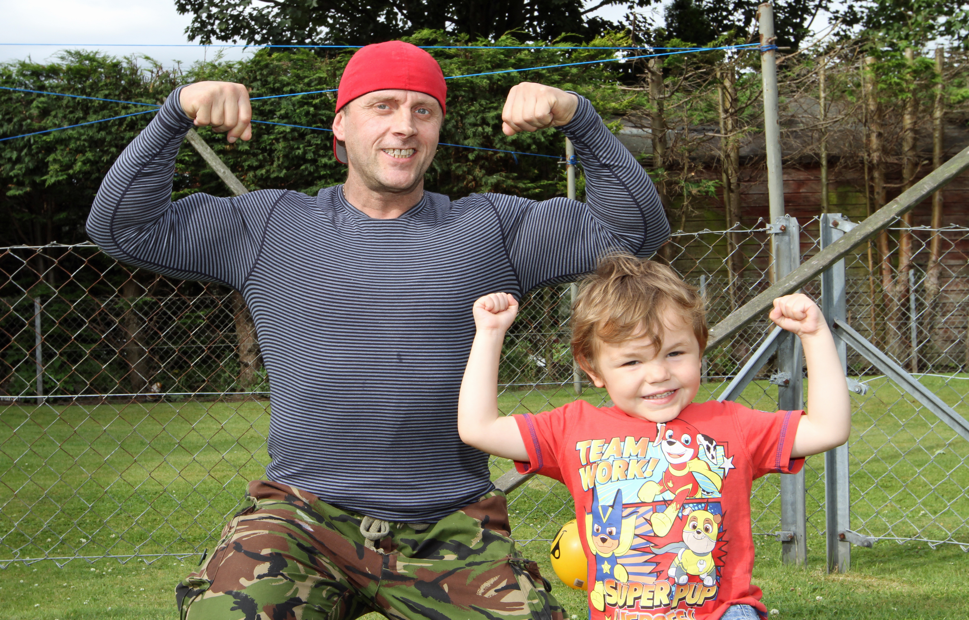 Grant Coutts with son, Grant junior.