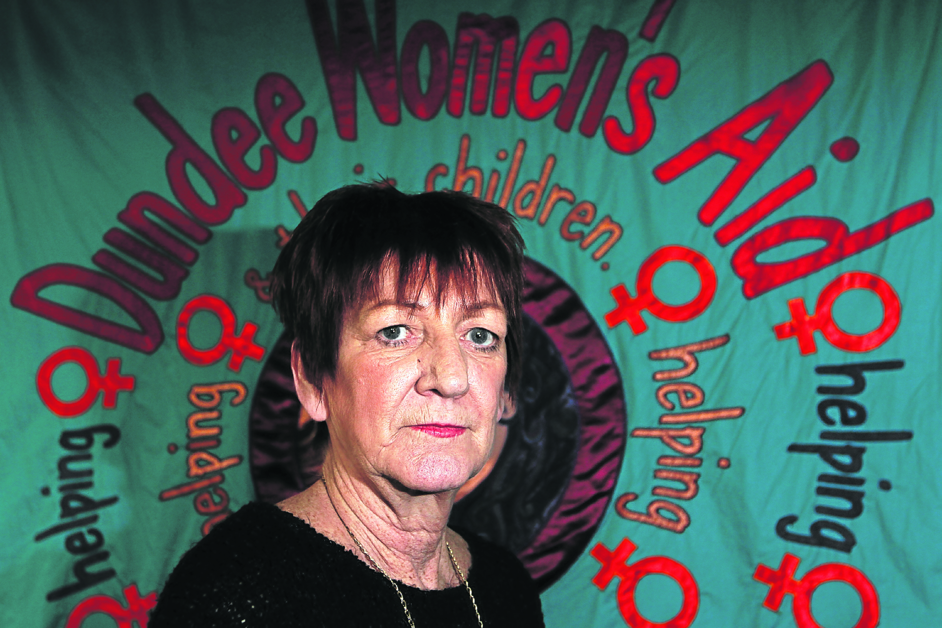 Mary Miller, manager of Dundee Women's Aid (Pic by Mhairi Edwards)
