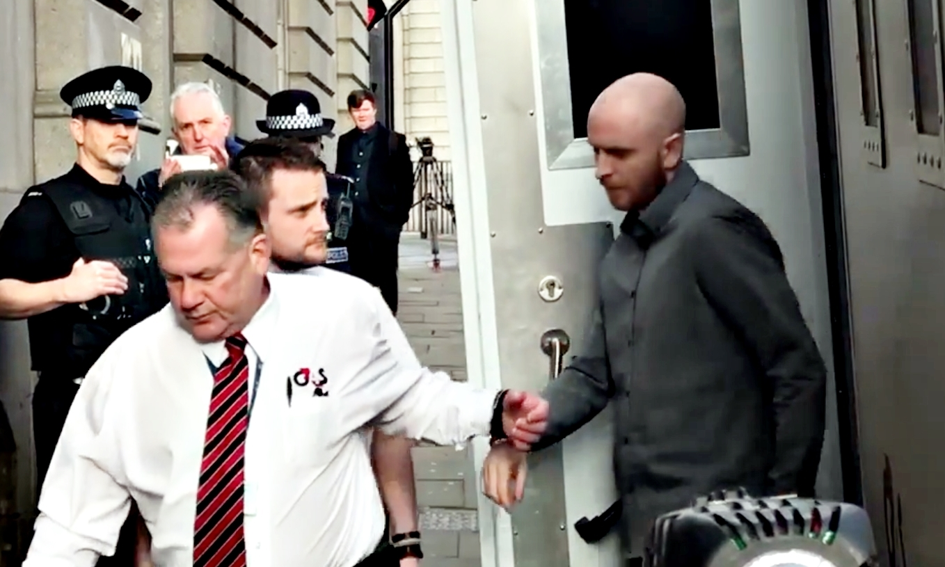 Robbie McIntosh arrives at the High Court in Aberdeen.