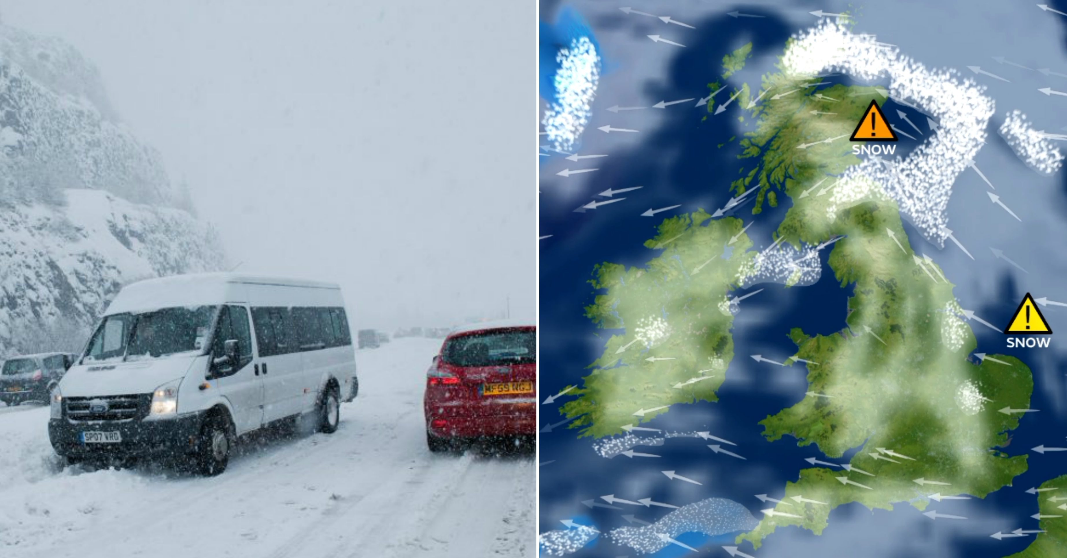 Heavy snowfall is due in Tayside and Fife on Wednesday.