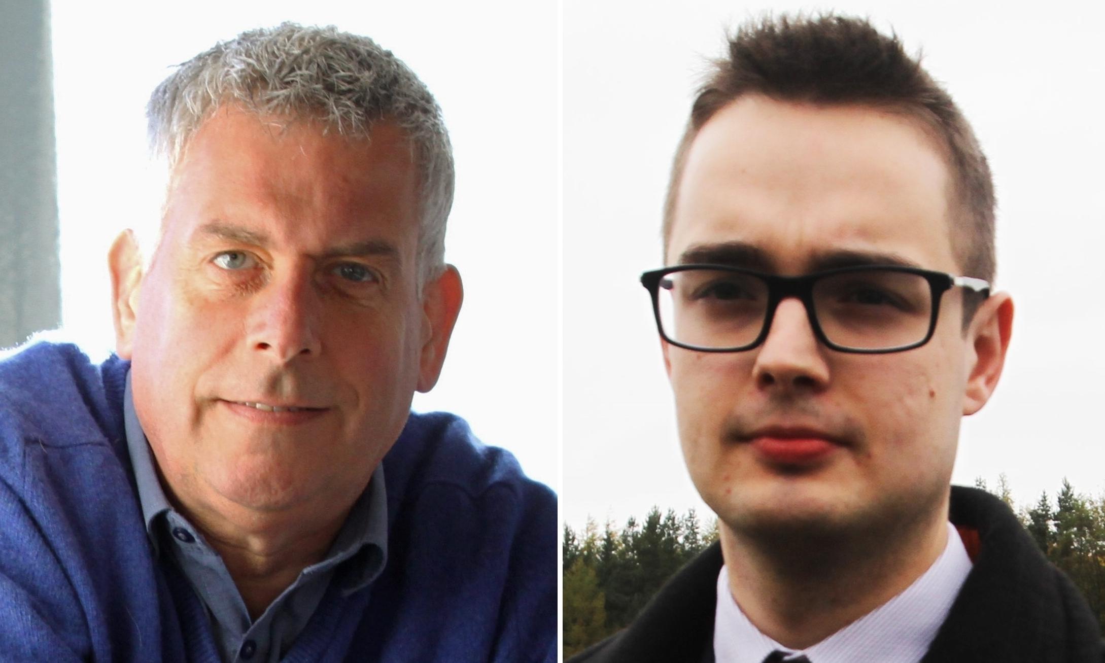 Councillors Brian Boyd and Braden Davy.