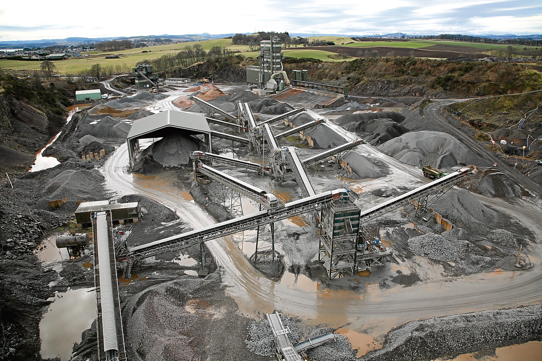 Breedon's Ethiebeaton quarry site in Angus.