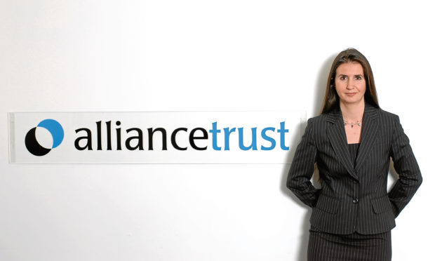 Katherine Garrett-Cox during her time as chief executive of Dundee's Alliance Trust