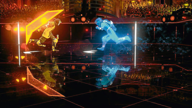 Laser League, produced by Roll7, who were supported by the UK Games Fund.