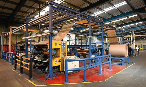 Materials being produced at Scott & Fyfes Tayport factory.