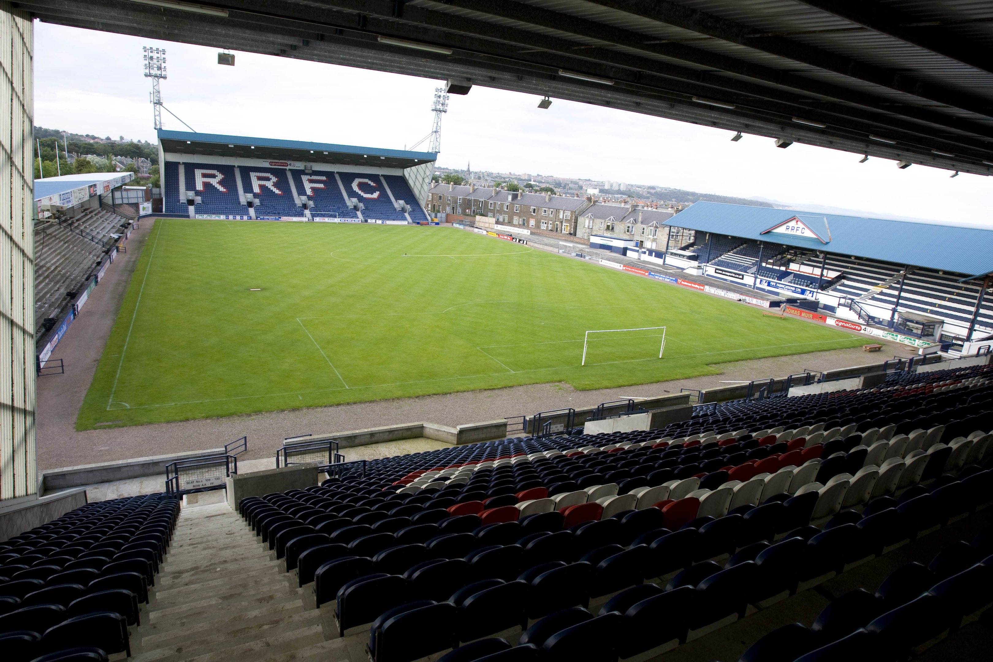 Stark's Park, home of Raith Rovers FC.