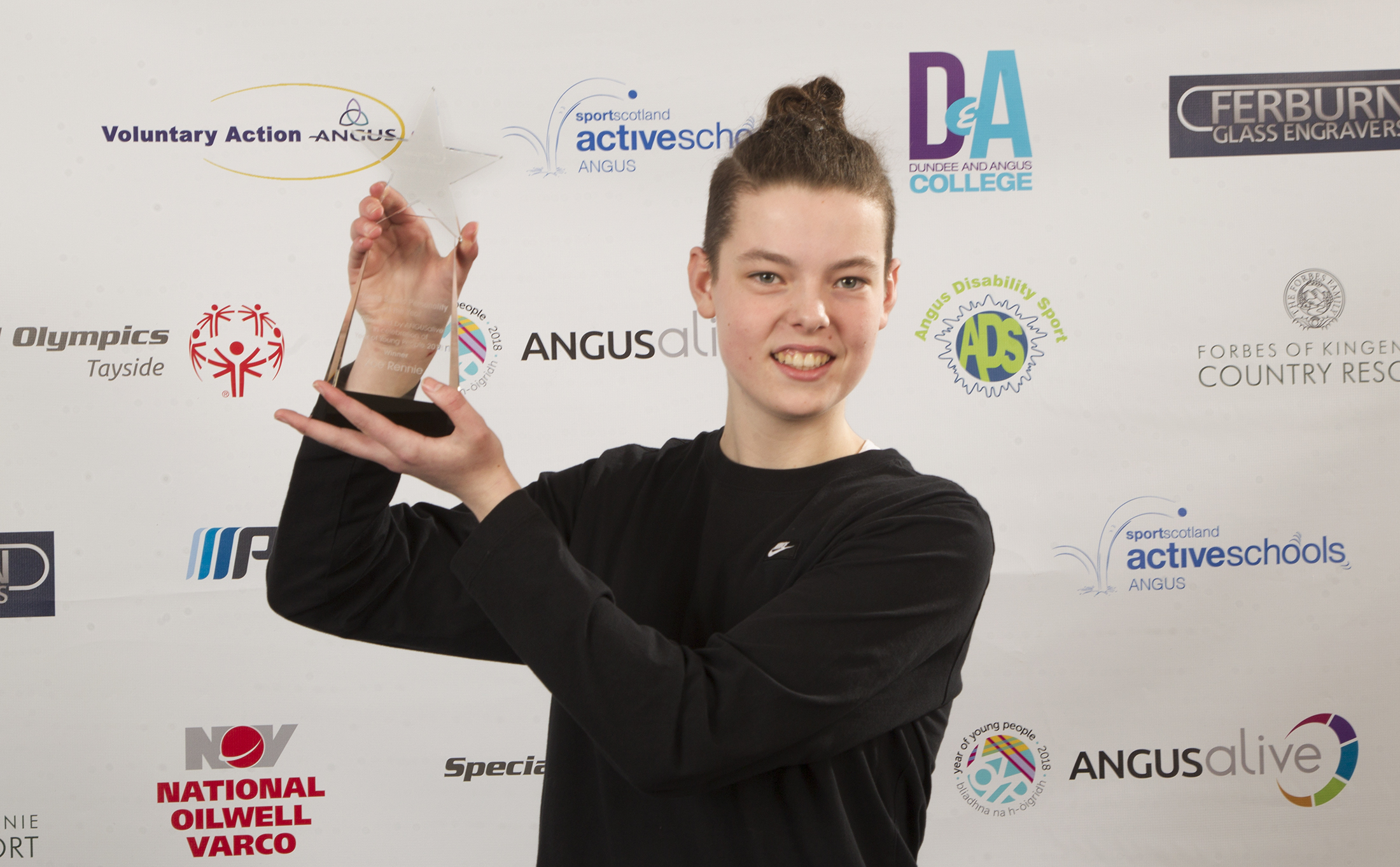 Angus.Young Sports Personality of the Year Zoe Rennie