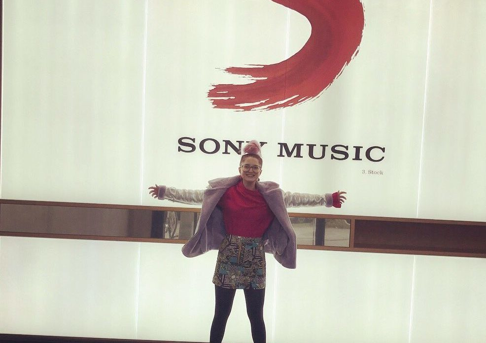 Charlotte at the Sony/Columbia studio this week