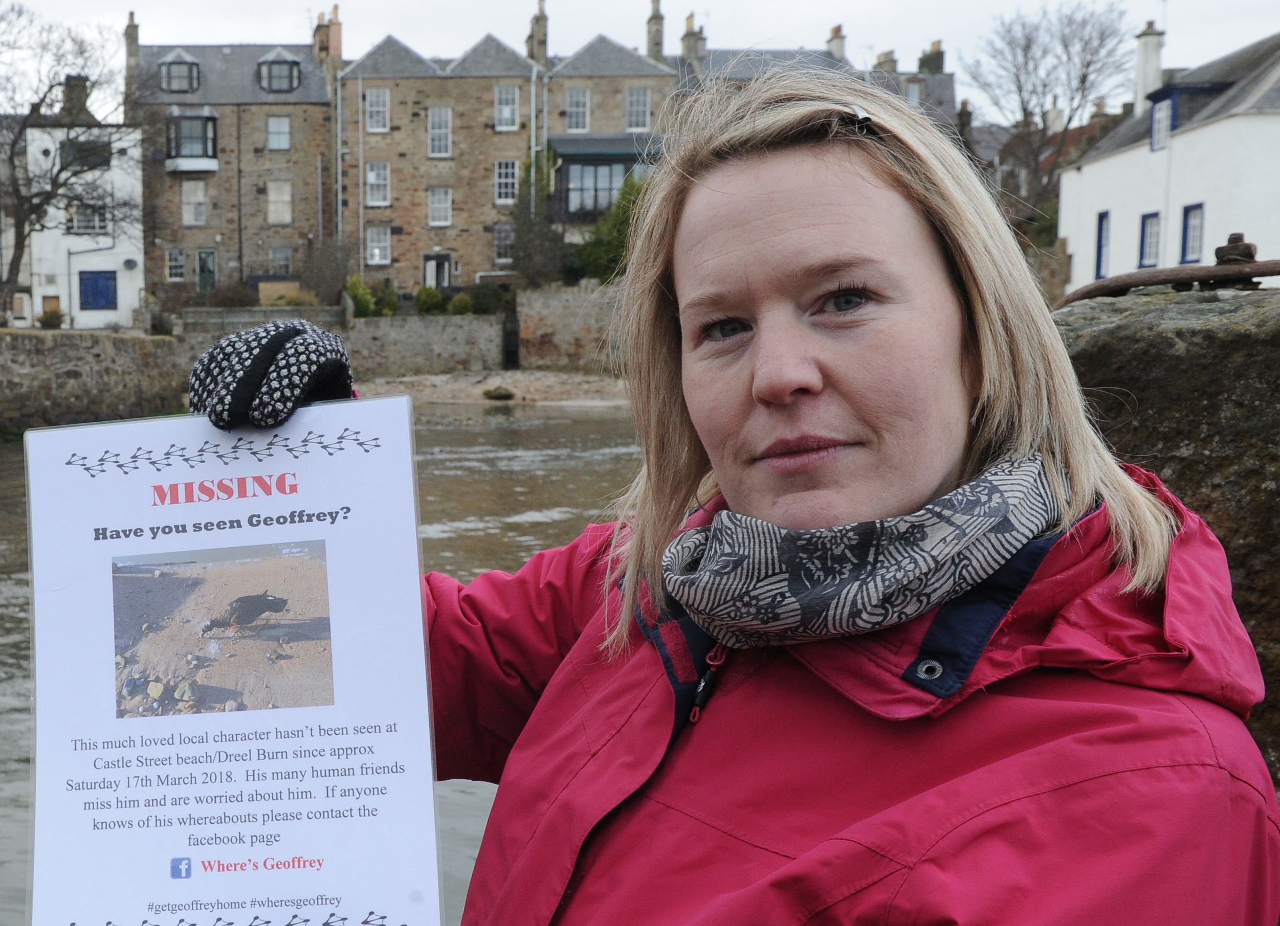 Kirsty Black from Anstruther is one of a few people leading the hunt for Geoffrey the Duck