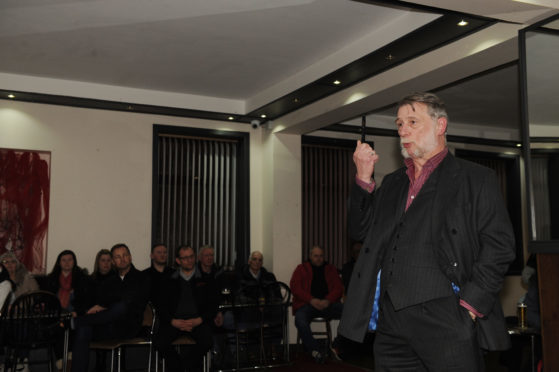 Chairman Donald Findlay QC addressed supporters on Thursday night.