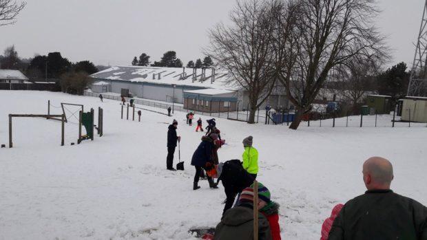 Volunteers were in action at Castlehill Primary School in Cupar.