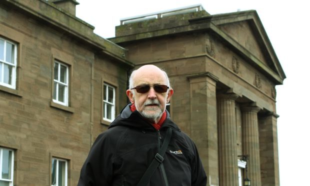 Local historian and author Forbes Inglis outside Montrose Royal Infirmary.