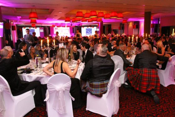Guests enjoying the proceedings at The Menu Food & Drink Awards, at the Old Course Hotel in St Andrews.