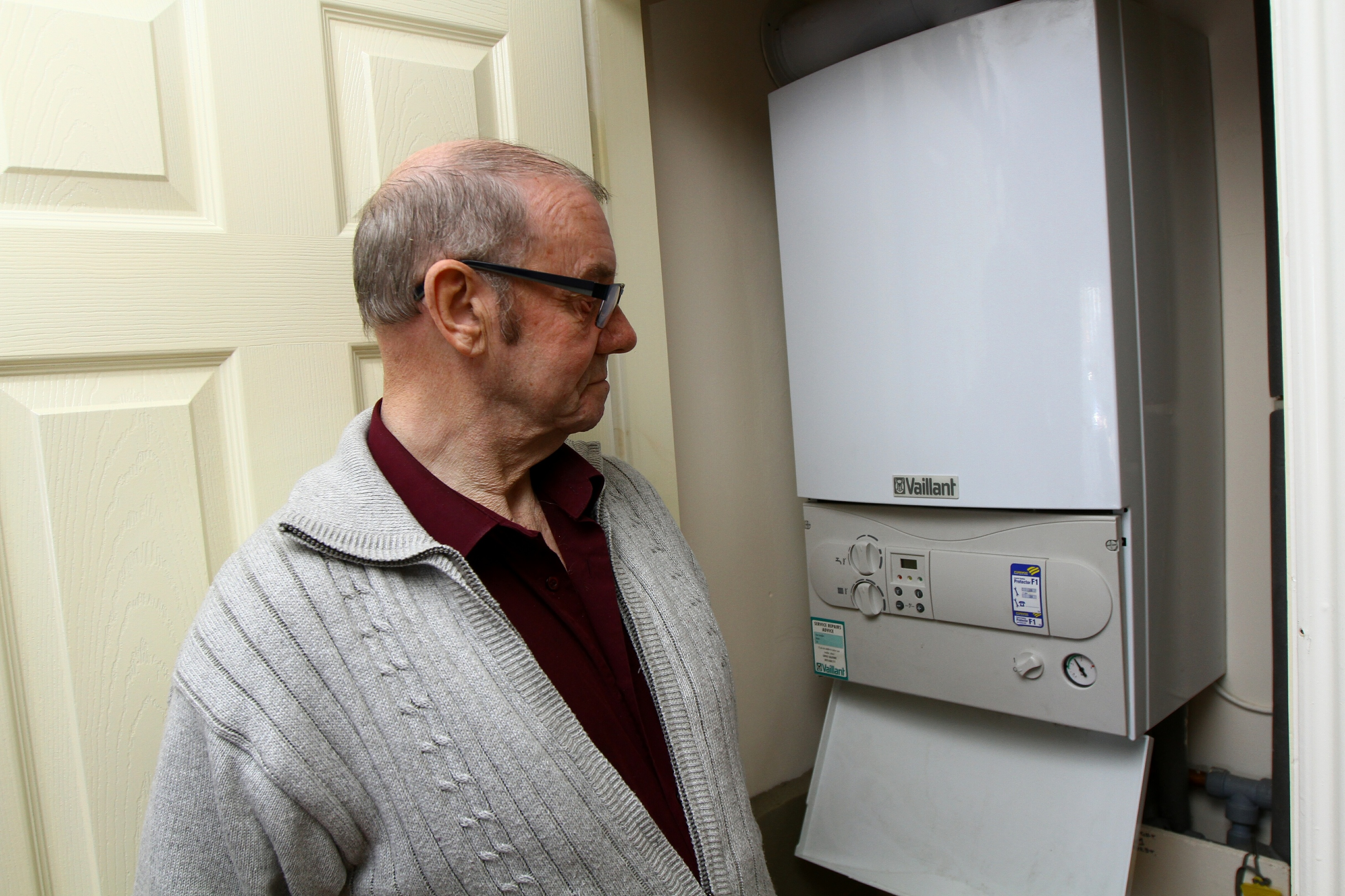 Mr Noble with the broken boiler