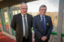 Joint Council leaders David Ross and David Alexander at Fife House in Glenrothes.
