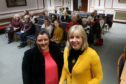 Councillors Lynne Short and Anne Rendall before their talk at Dundee Women's Festival in 2018.