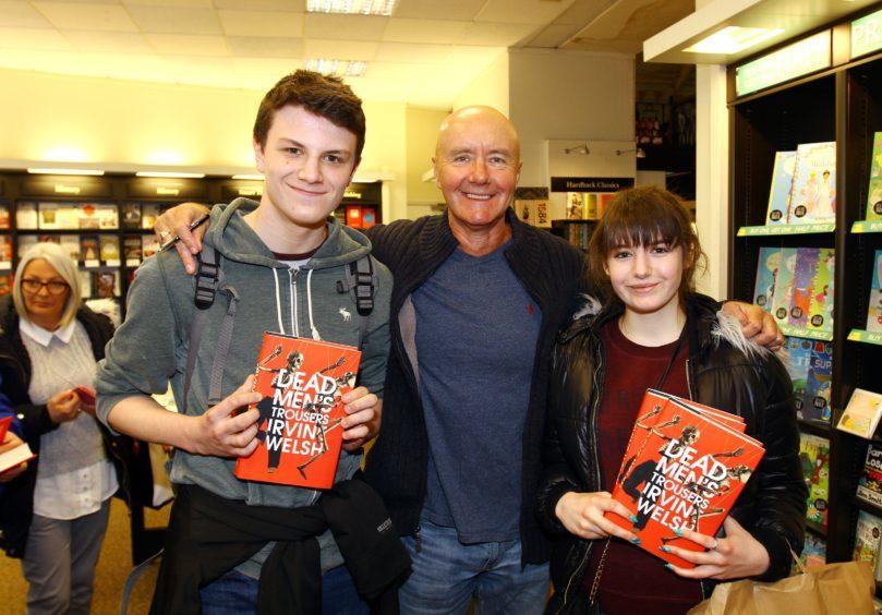 Irvine with David Scott (14) & Dominika Valente (15) both from Kirkcaldy