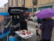 Allan Fergusson of Allans Chilli Products of Abernethy at Perth Farmers Market.