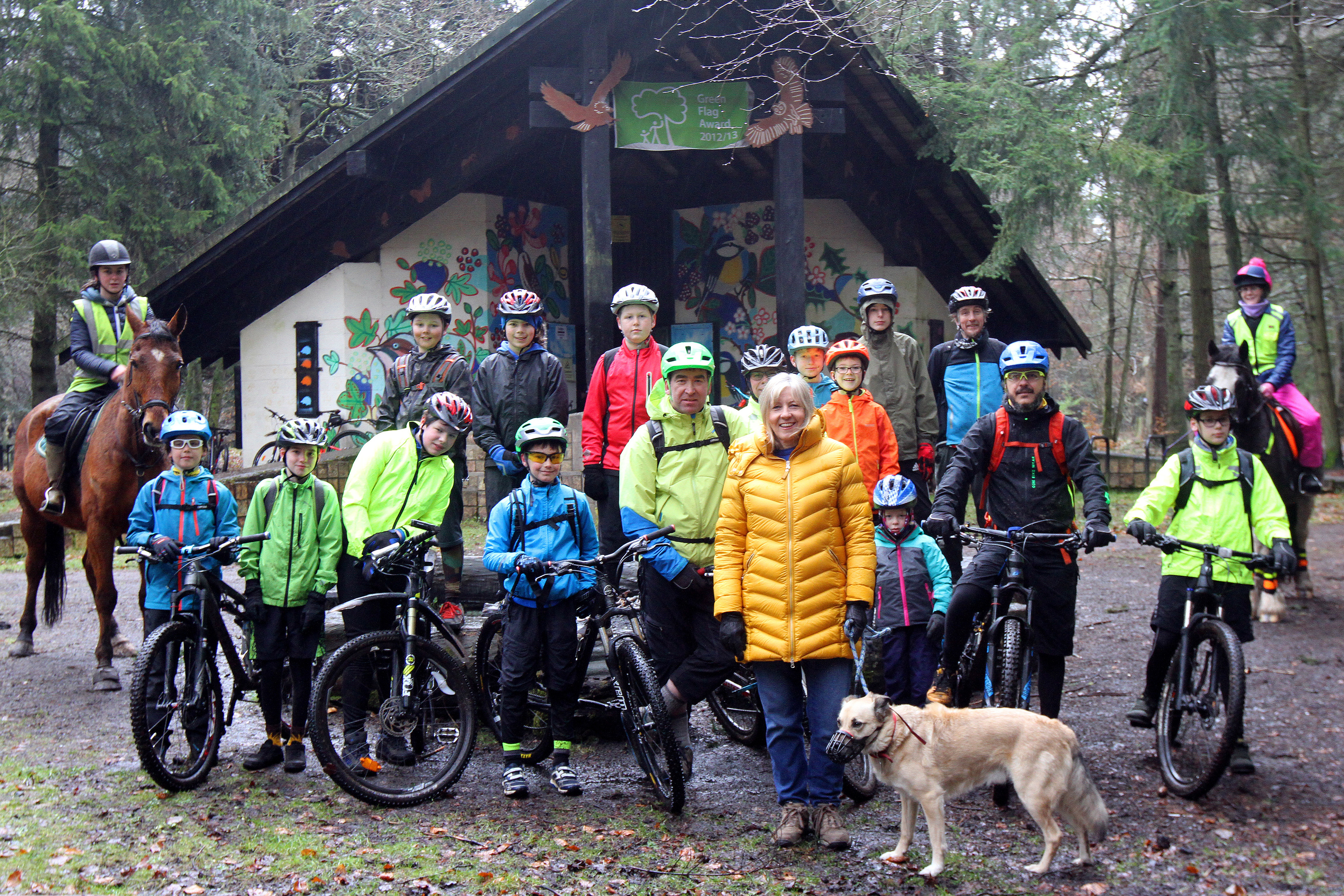 Dog walkers, horse riders and mountain bikers at Templeton Woods.