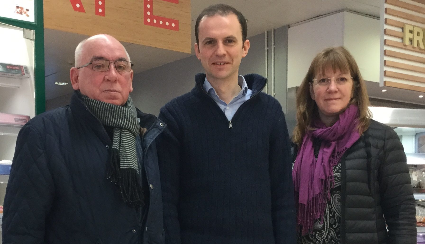 Ken Scott, Stephen Gethins and Councillor Karen Marjoram who is helping Ken with the issues he has raised more locally.