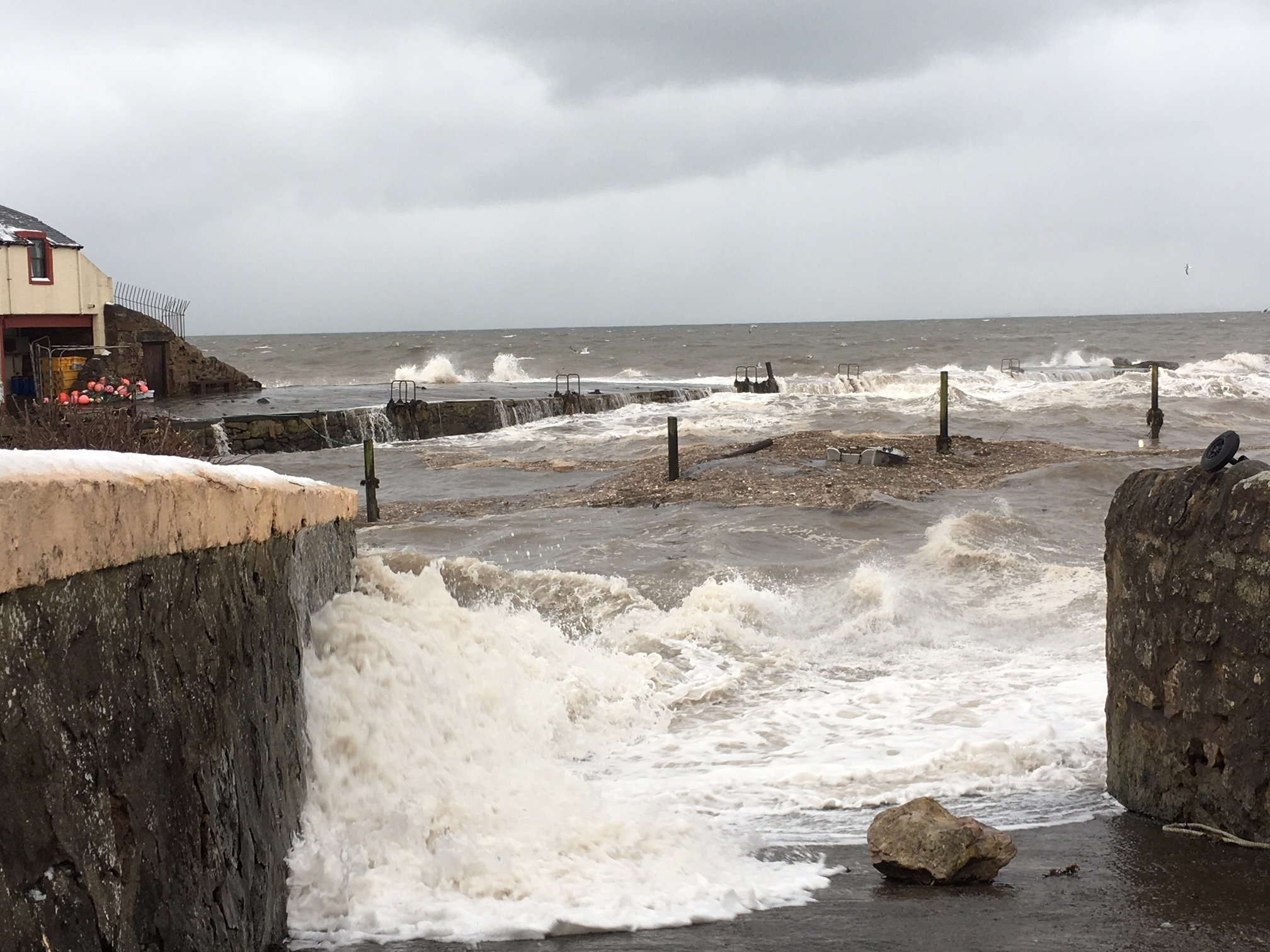 The pier has been at the mercy of the elements for years now.