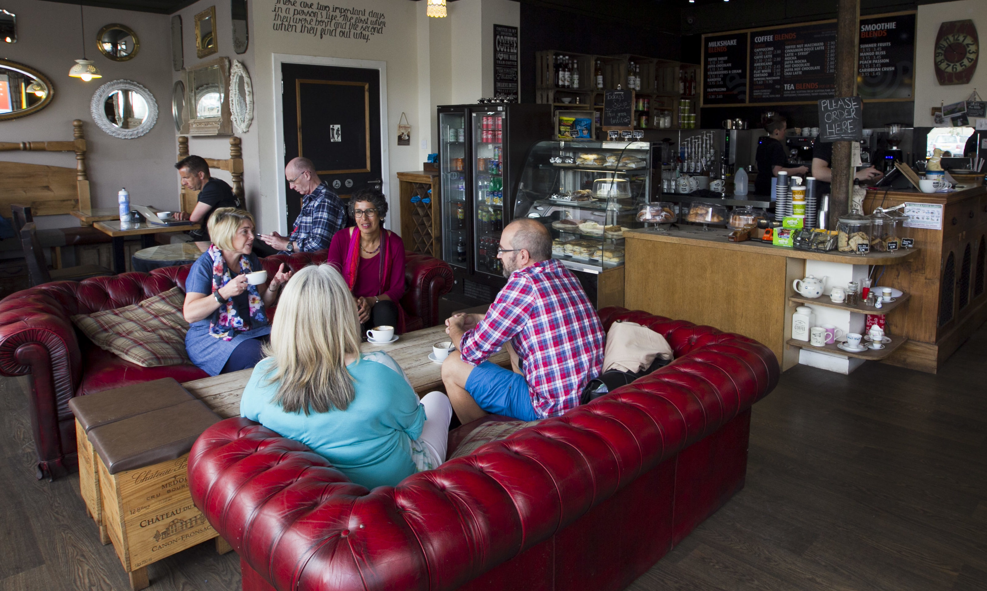 """A """"Menopause Cafe"""", held at the Blend Coffee shop in Perth last year."""