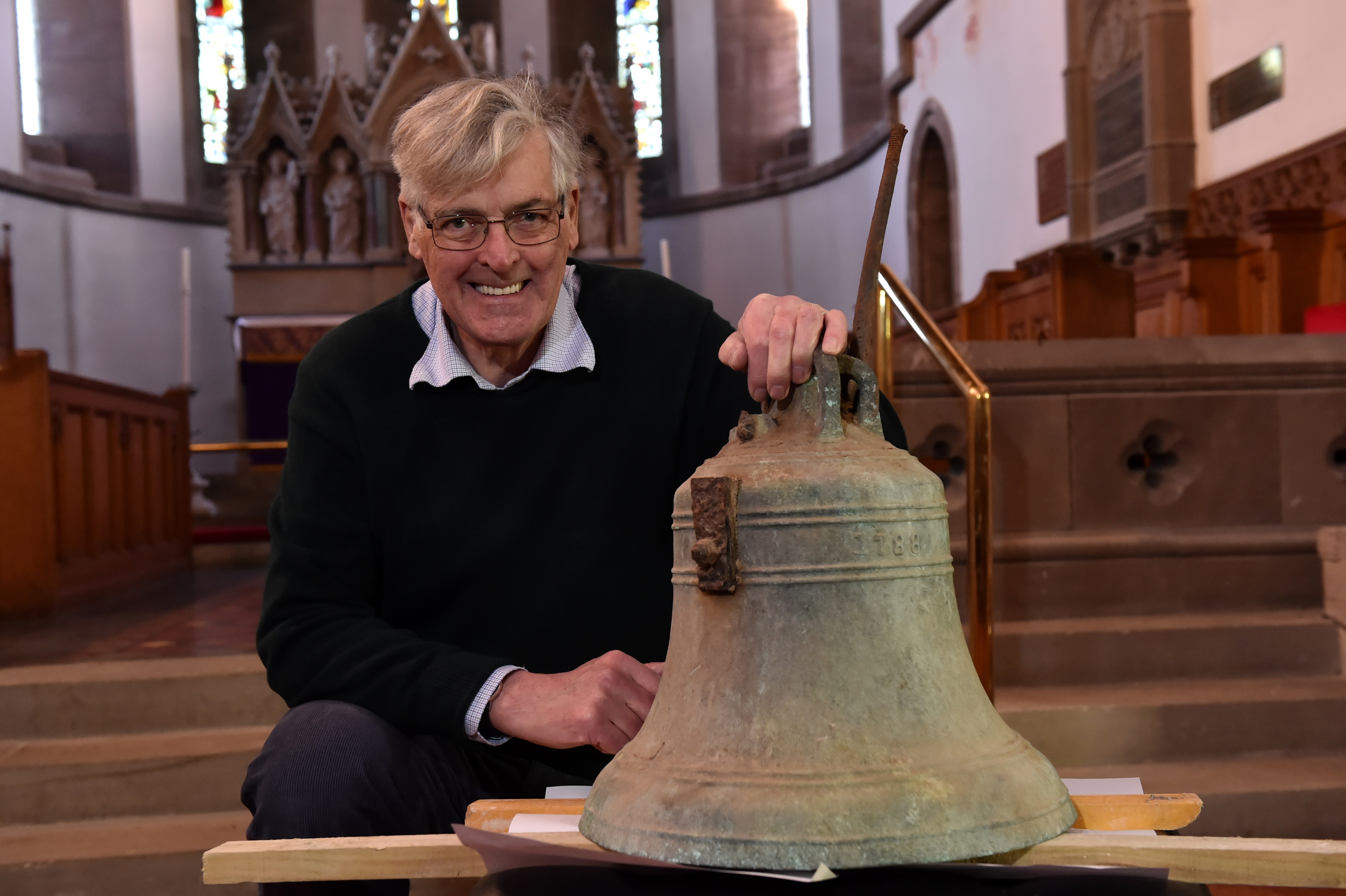 St James' Church in Stonehaven, is launching a crowd funding campaign to re-instate the recently discovered church bell.  They are hoping it will be back in working order in time for the 100th anniversary of the armistice in November. Picture of David Fleming with the bell.