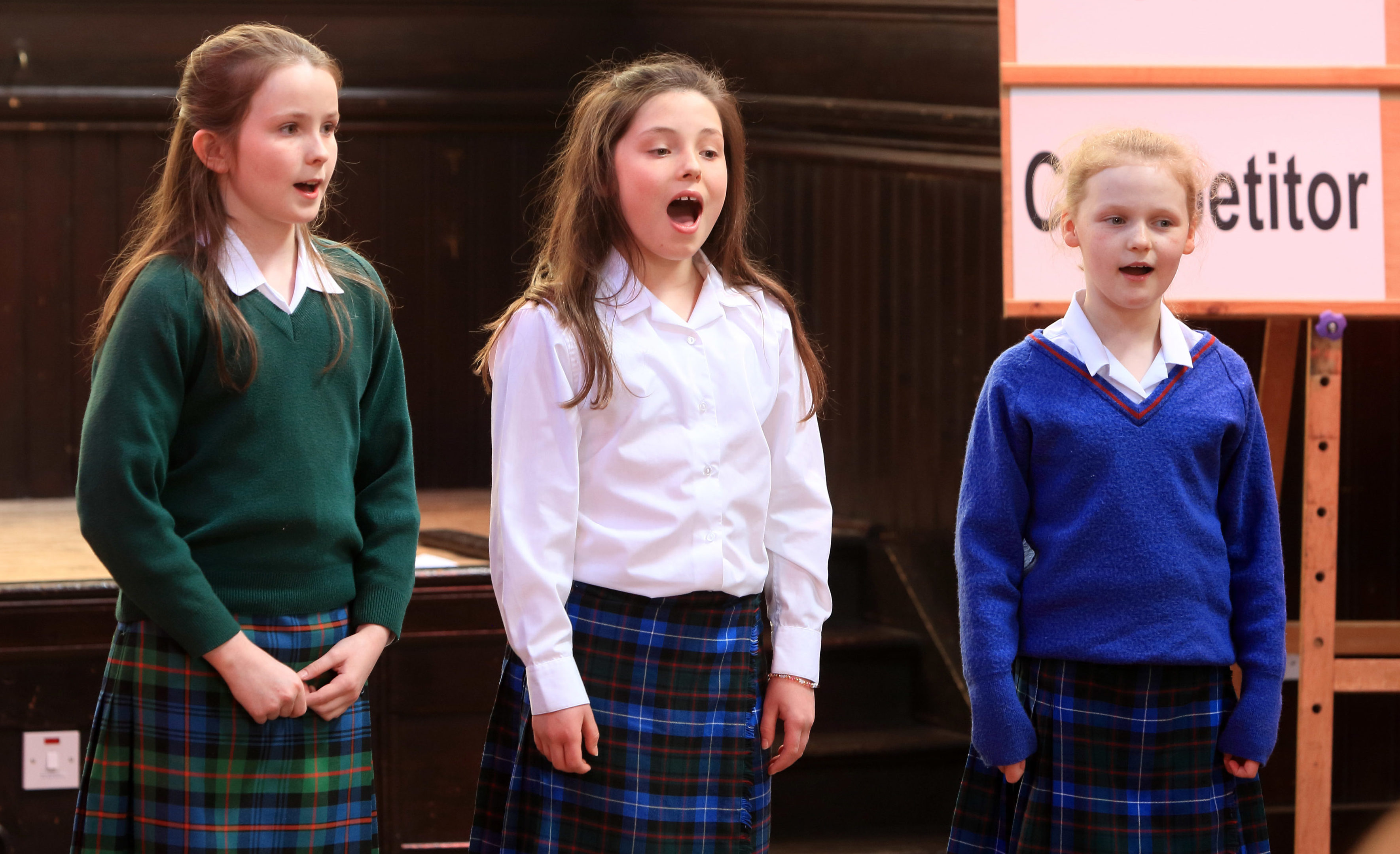 Perform in Perth class Vocal Solo (10 or 11)- LR Mischa Steele  (Kilgraston) Annabel anderson (Craigclowan) Emily Scott (Craigclowan)