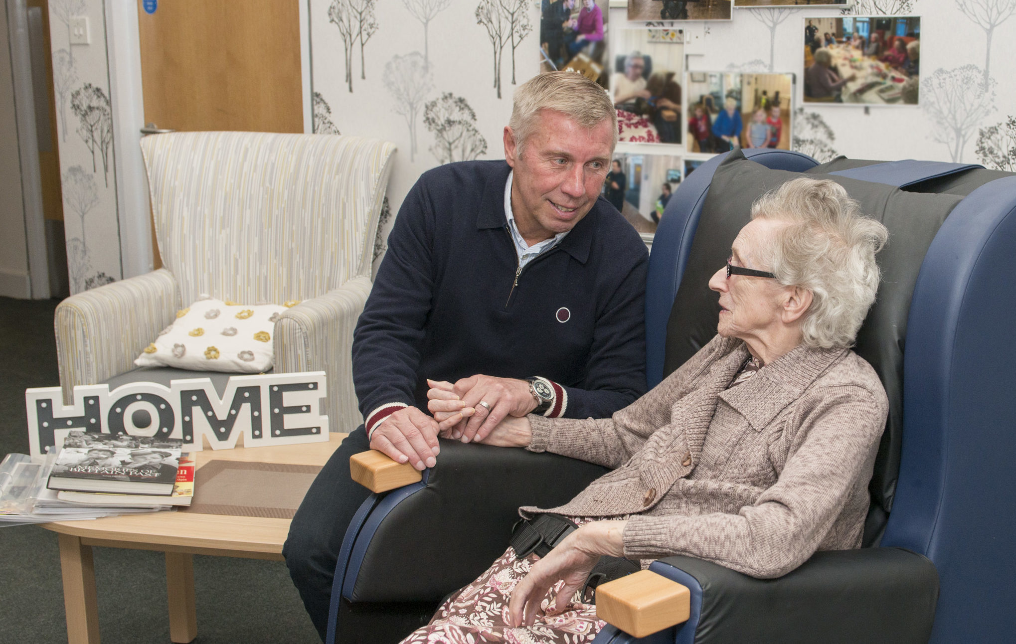Betty Harris is pictured with her son Graeme at Beechgrove care home.