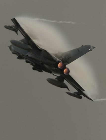 RAF Leuchars Air Show.   The Tornado GR4.