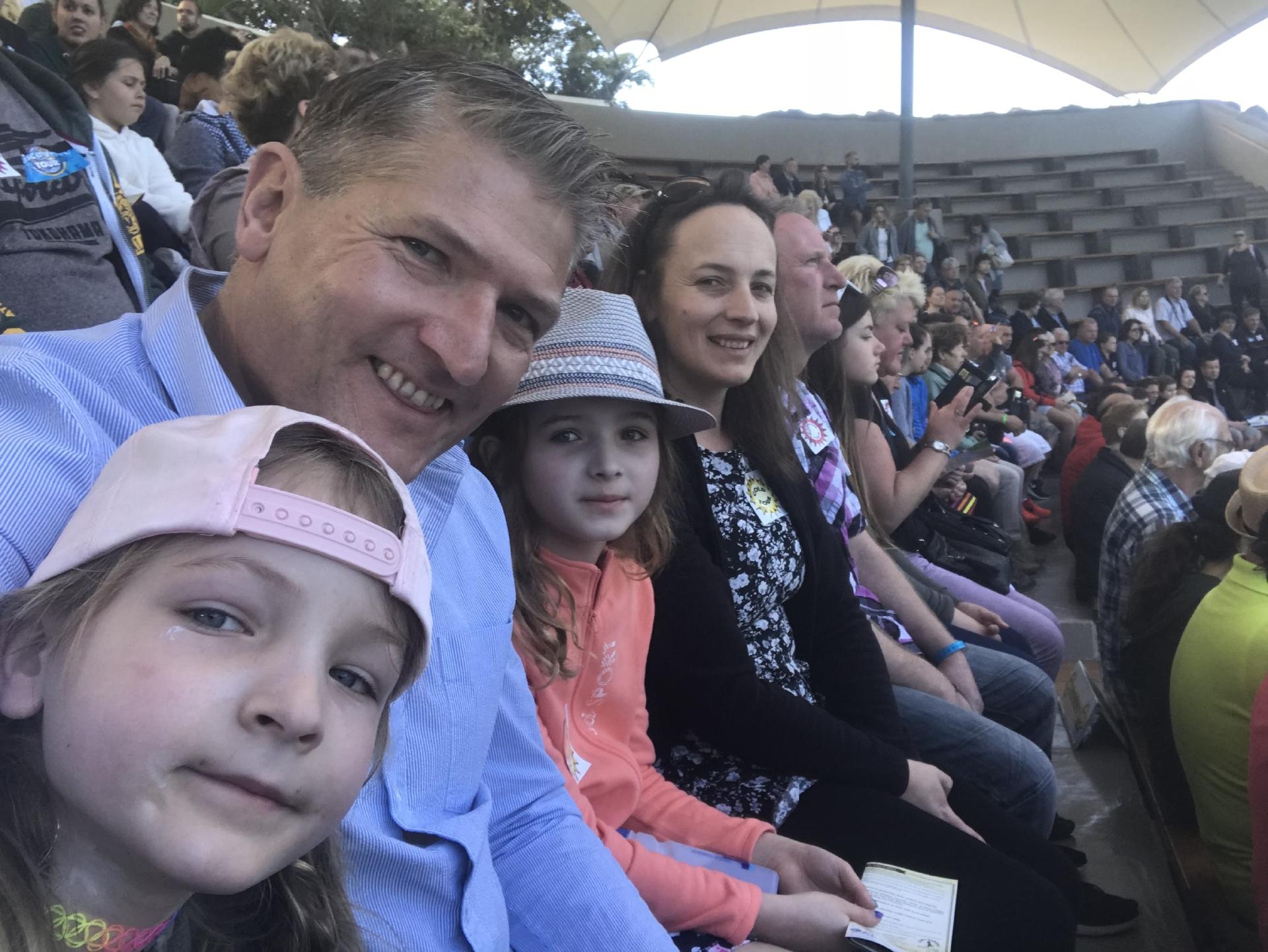The McKelvies at Loro Parque.