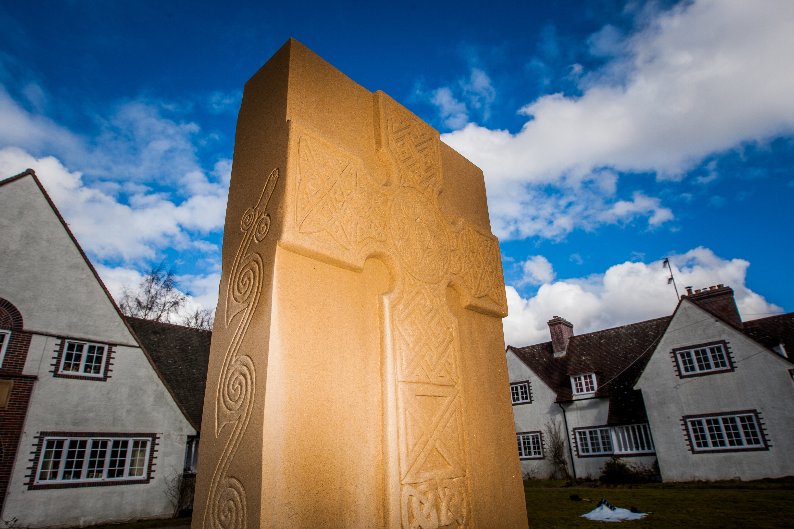 The Pictish stone in Forteviot, carved by David McGovern.