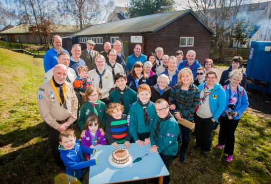 Celebrations at the Scout hall.