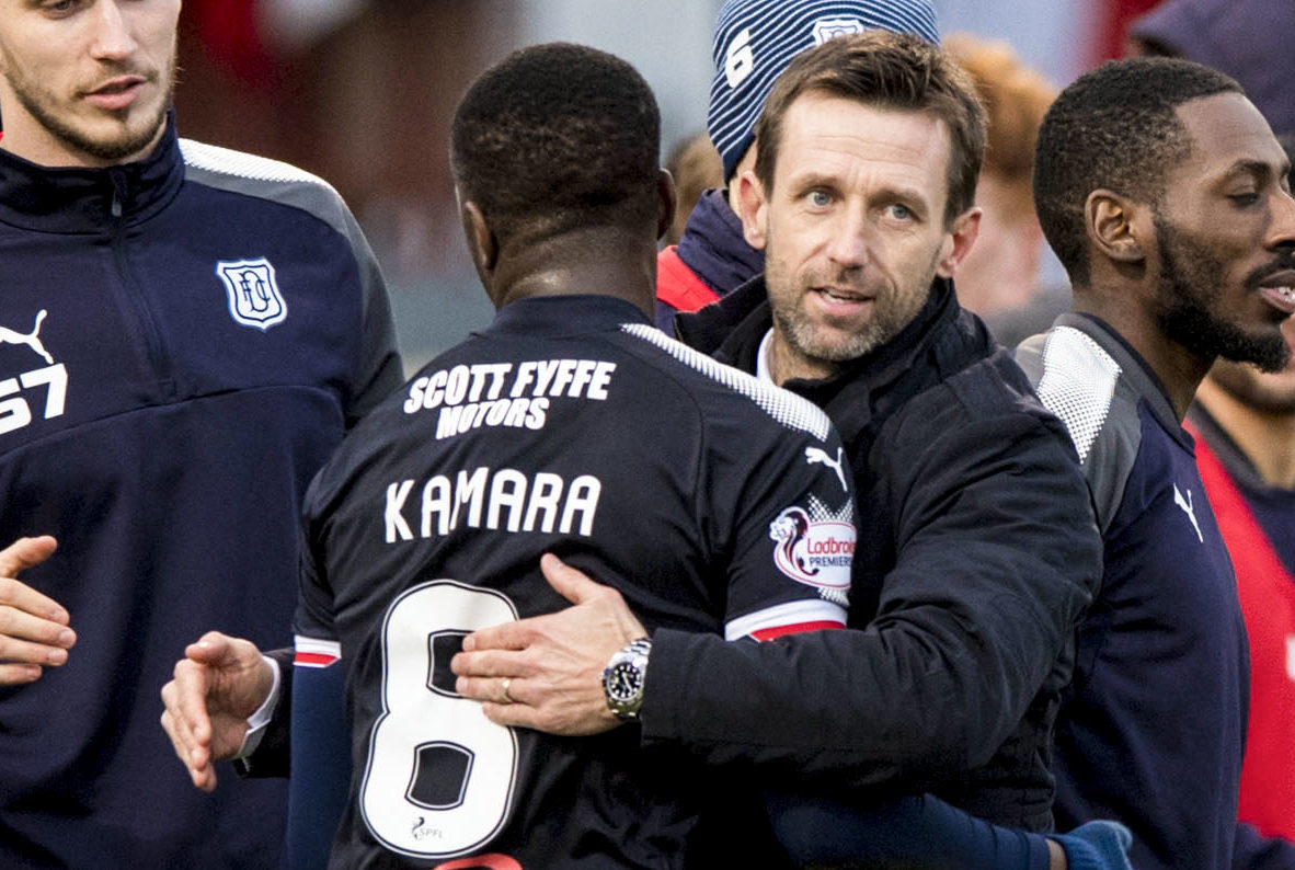 Glen Kamara with Neil McCann.