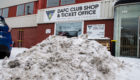 The view outside East End Park during the recent wintry spell.