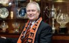 Mike Martin in the Tannadice boardroom.