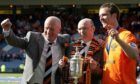 Peter Houston, Stephen Thompson and captain Andy Webster with the Scottish Cup in 2010.