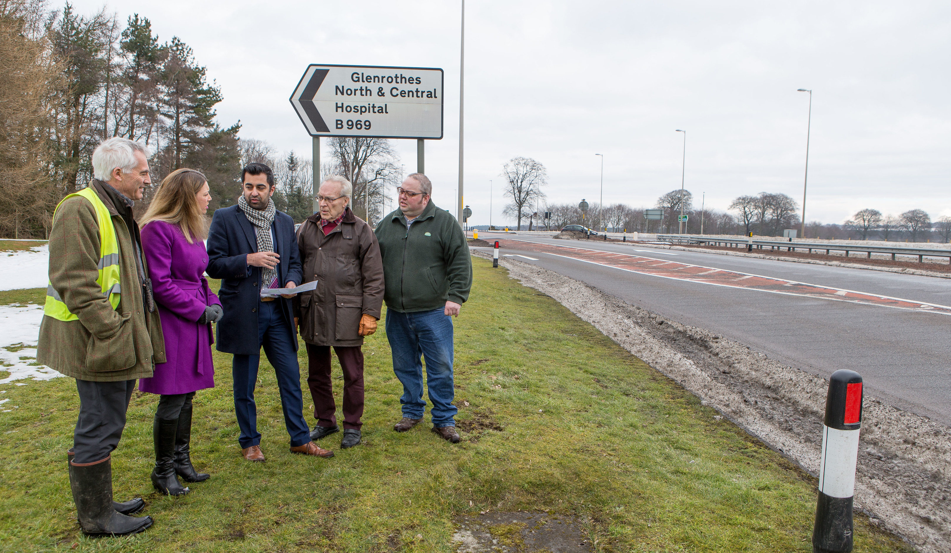 Former Transport Minister Humza Yousaf visited the hazards last year