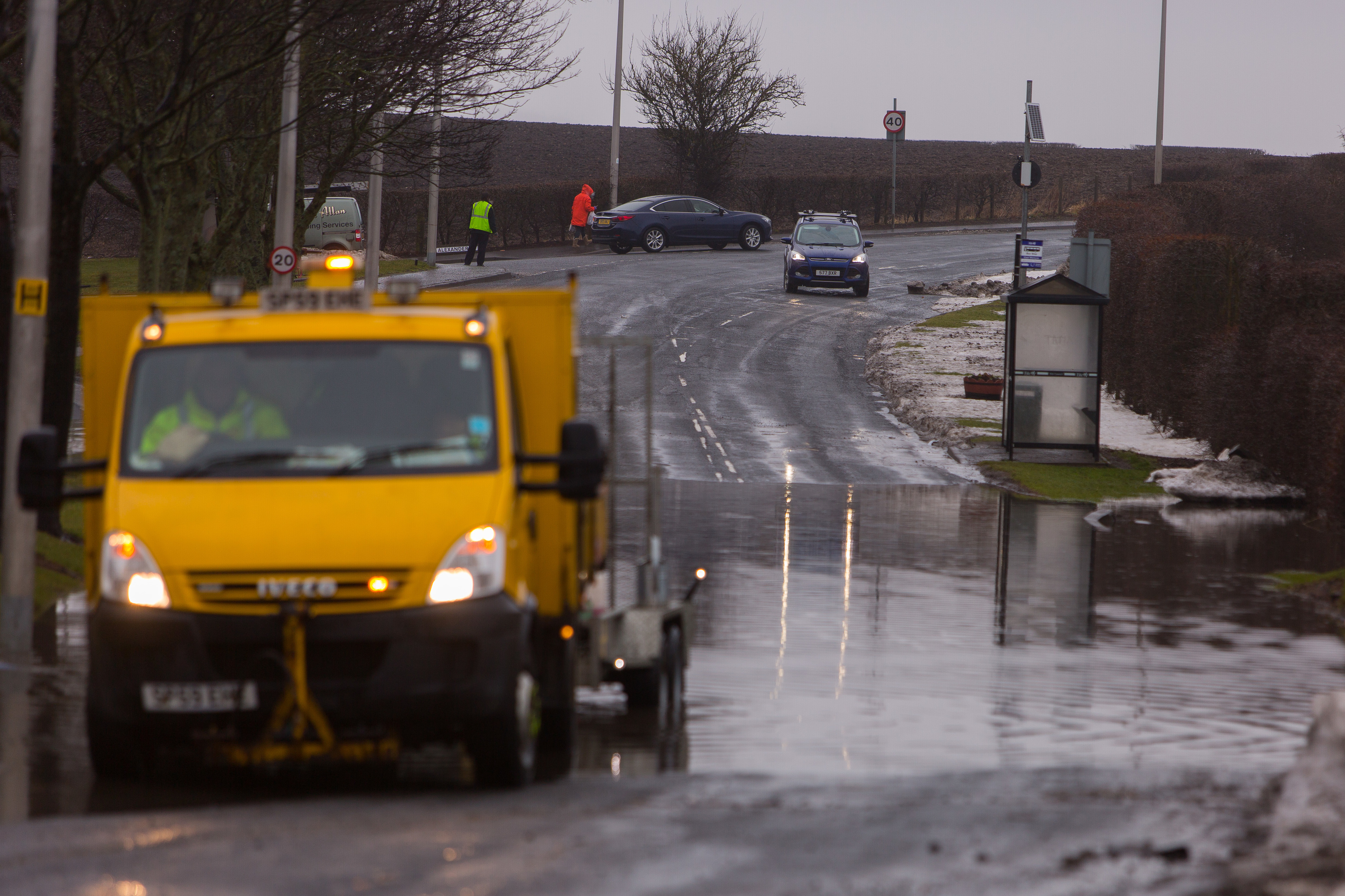 Flooding in East Wemyss.