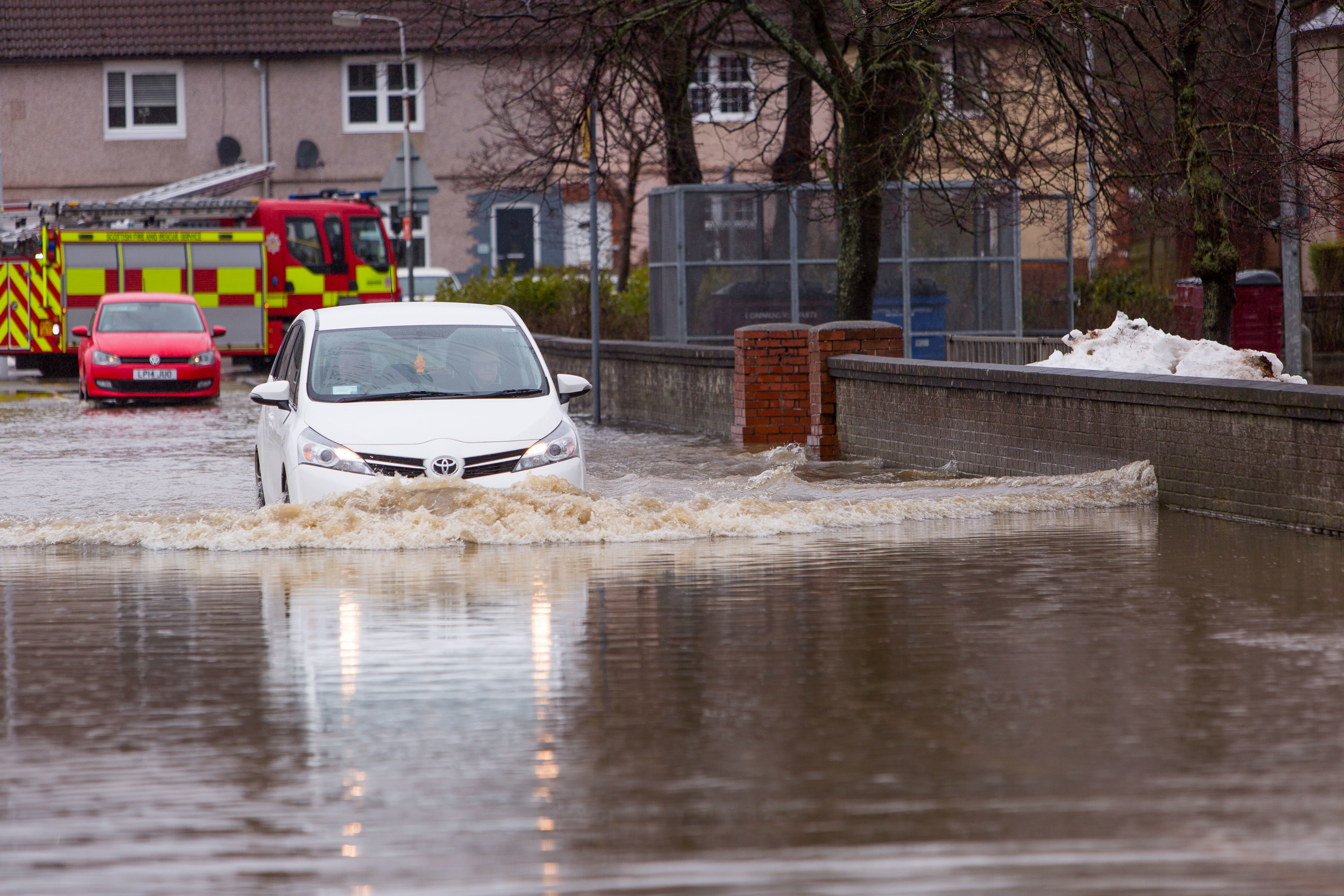 The Park Road area was flooded again on Tuesday
