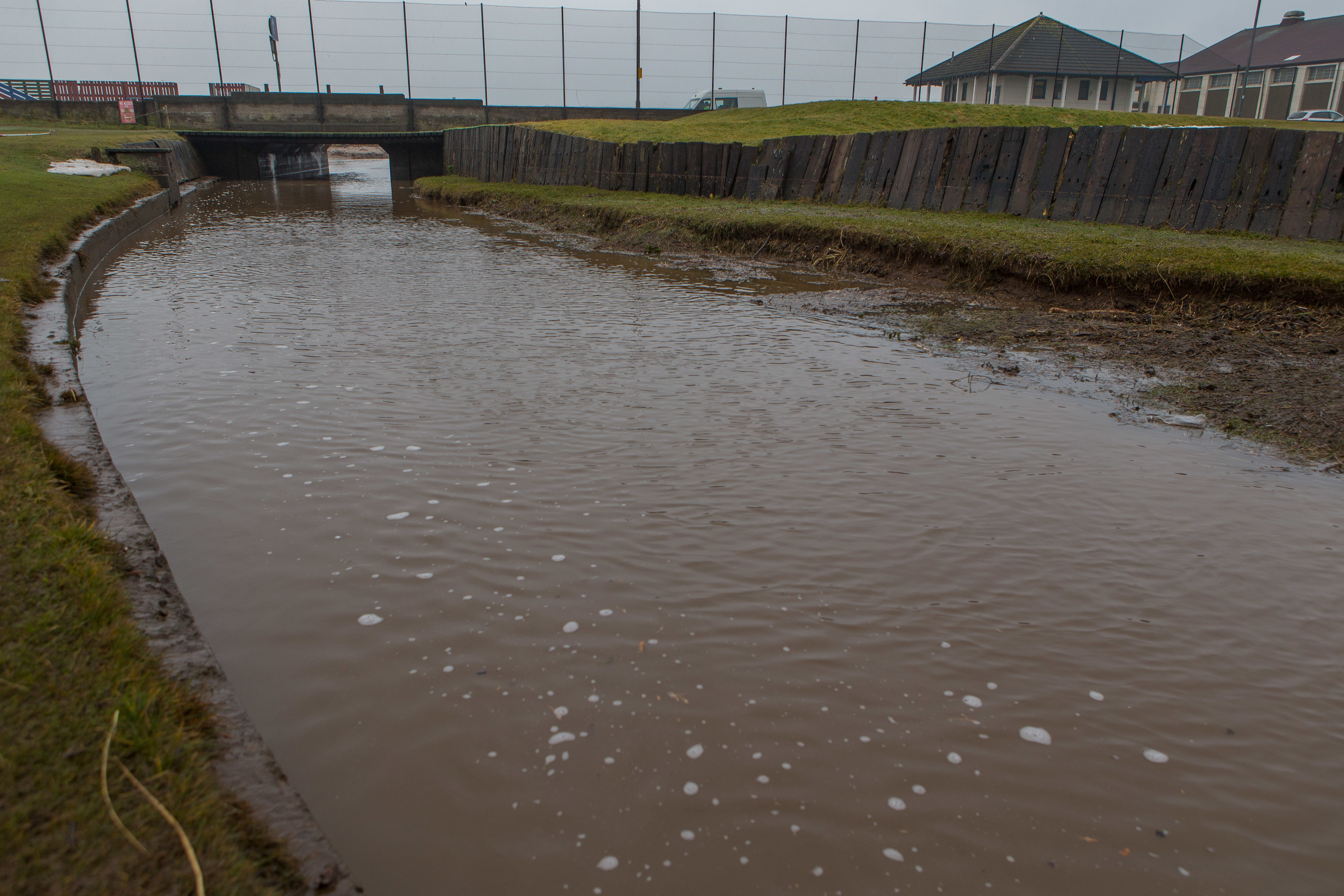 Locals have been urged to stay clear of the river.