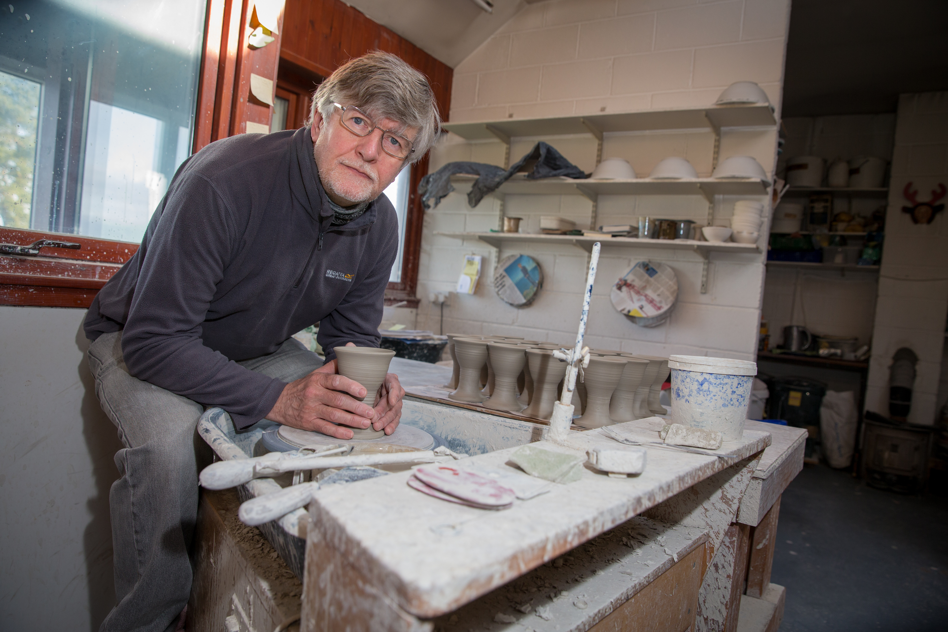 George Young of St Andrews Pottery who will be affected by the ongoing LPG gas supply problem in North East Fife as his Kiln is gas powered.