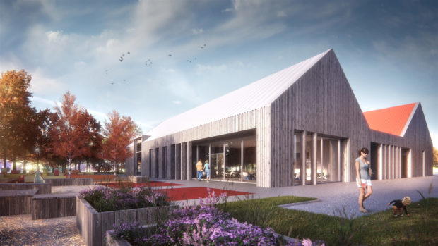 An artist's impression of how the new Tayport Community Hub could look.