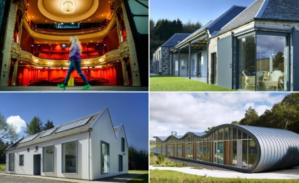 Some of the local buildings shortlisted at the RIAS awards